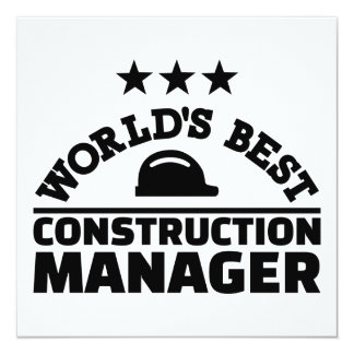 World's best construction manager card