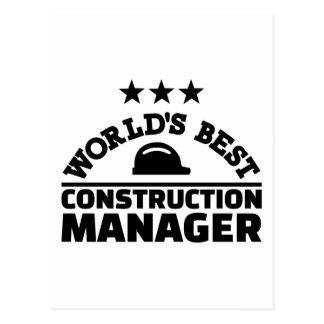 World's best construction manager postcard