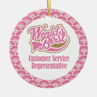 World's Best Customer Service Representative Gift Ceramic Ornament