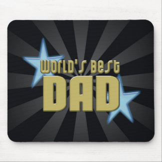 World s Best Dad Black Gold Cool Father s Day Mouse Pads