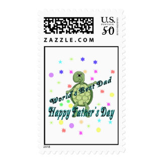 World's Best Dad Happy Father's Day Postage