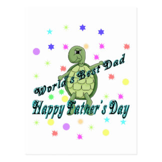 World's Best Dad Happy Father's Day Postcard
