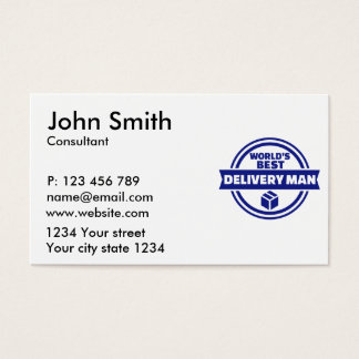 World's best delivery man business card