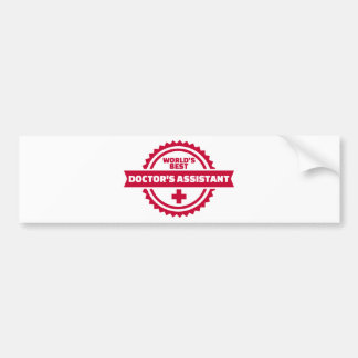 World's best doctor's assistant bumper sticker
