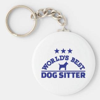 World's best dog sitter keychain