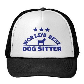 World's best dog sitter trucker hat
