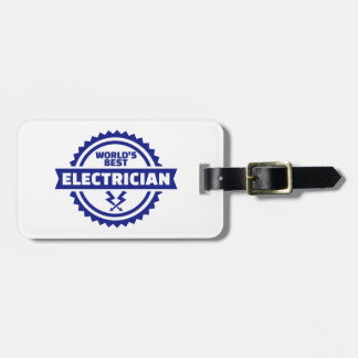 World's best electrician luggage tag