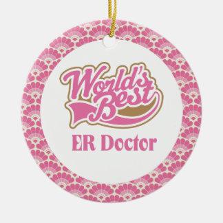 World's Best ER Doctor Gift Ornament
