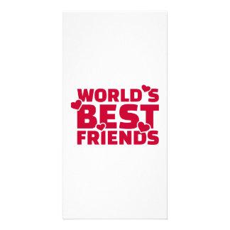World's best friend photo card