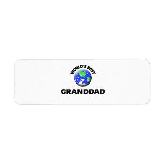 World s Best Granddad Return Address Label