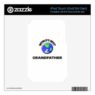 World s Best Grandfather Decal For iPod Touch 2G