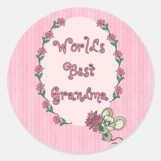 World s Best Grandma Round Sticker