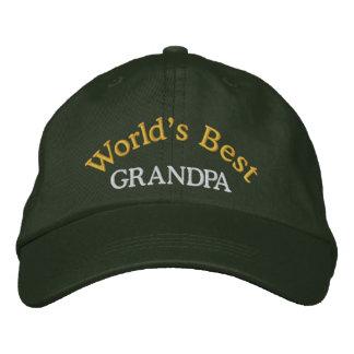 World s Best Grandpa Embroidered Baseball Cap Hat