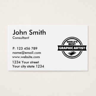 World's best graphic artist business card
