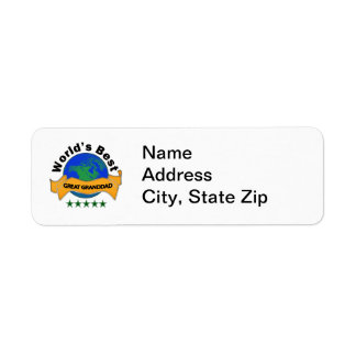 World s Best Great Granddad Return Address Label