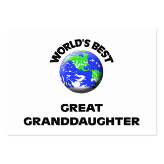 World s Best Great Granddaughter Business Cards