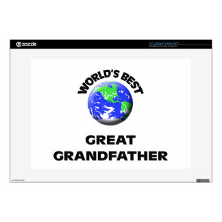 "World s Best Great Grandfather 15"" Laptop Decals"