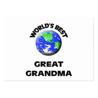 World s Best Great Grandma Business Card Template