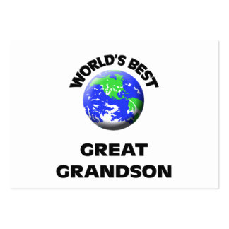 World s Best Great Grandson Business Cards