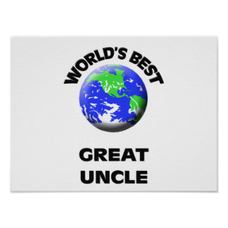 World s Best Great Uncle Print