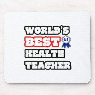 World s Best Health Teacher Mousepads