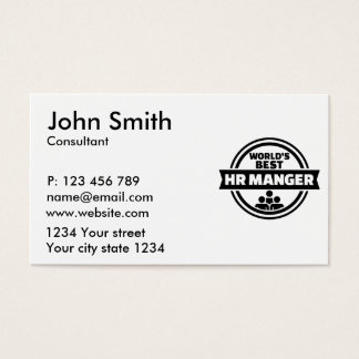 World's best HR Manager Business Card