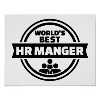 World's best HR Manager Poster