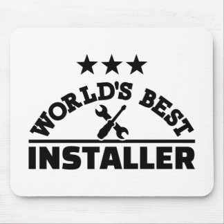 World's best installer mouse pad