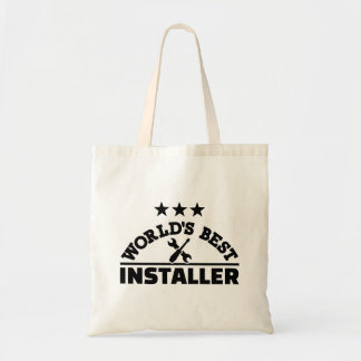 World's best installer tote bag