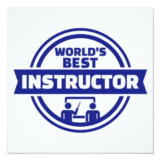 World's best instructor card