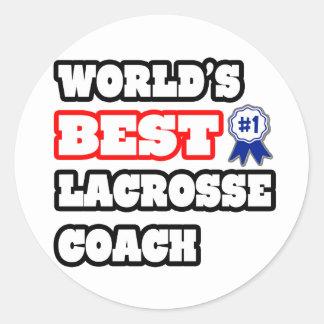 World s Best Lacrosse Coach Sticker
