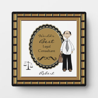 World s Best Lawyer Male Plaque