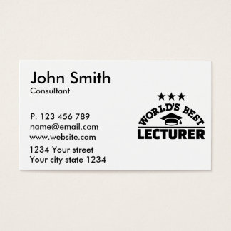 World's best lecturer business card