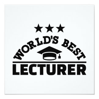 World's best lecturer card