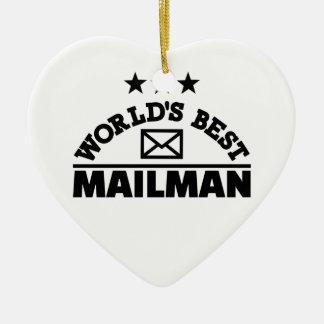 World's best mailman ceramic ornament