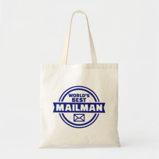 World's best mailman tote bag