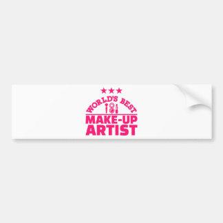 World's best make-up artist bumper sticker