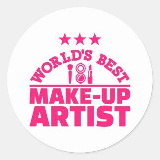 World's best make-up artist classic round sticker