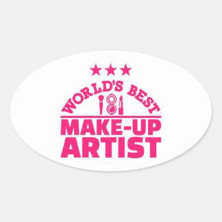 World's best make-up artist oval sticker
