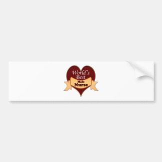World s Best Male Nurse Bumper Sticker