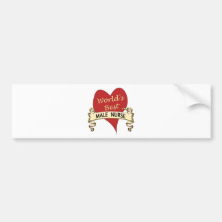 World s Best Male Nurse Bumper Stickers