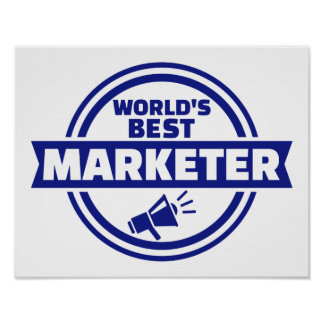 World's best marketer poster
