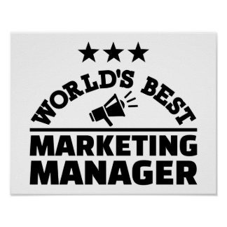 World's best marketing manager poster