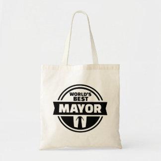 World's best mayor tote bag