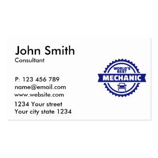 World's best mechanic business card
