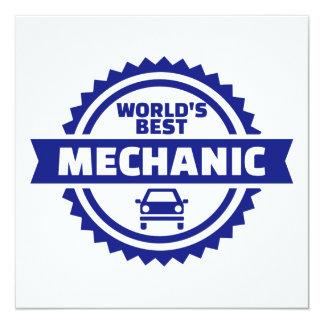 World's best mechanic card
