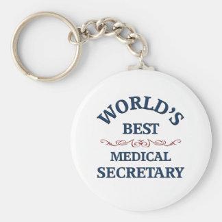 World s best Medical Secretary Key Chain