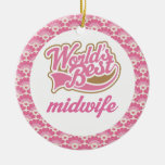 World's Best Midwife Gift Ornament