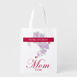 World's Best Mom Ever Grocery Bags