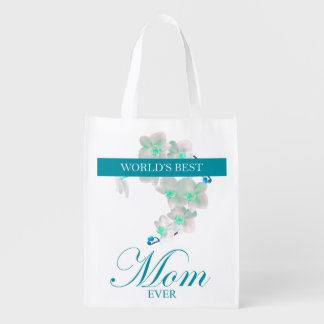 World's Best Mom Ever Reusable Grocery Bags